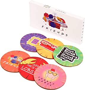 Friends TV Show Merchandise Friends Coaster Set Best Friend Fans Gift Birthday Gift Housewarming Gift New Home Apartment Gift (red, 6)