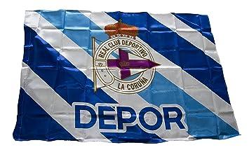 Real Club Deportivo de La Coruña Baddep Bandera, Blanco/Azul ...