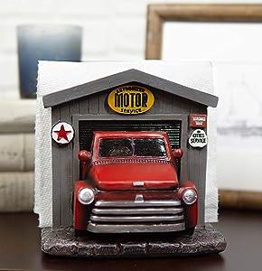 Ebros Gift Classic Old Fashioned Red Pickup Truck In Vintage Car Shop Garage Dinner Paper Napkin Holder Display Organizer Figurine 6
