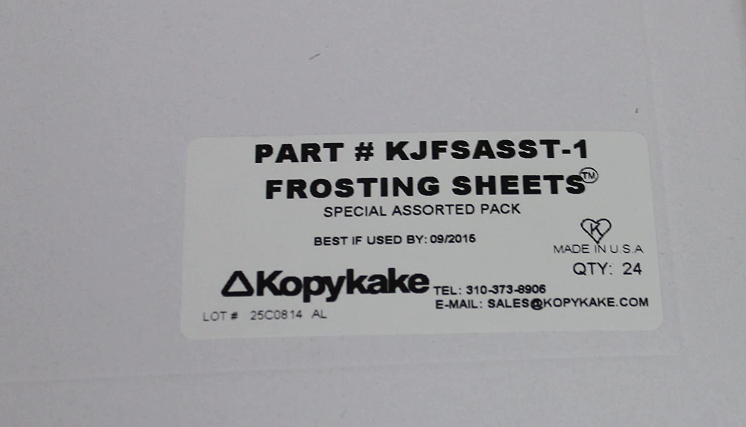Kopykake Frosting Sheets Assorted