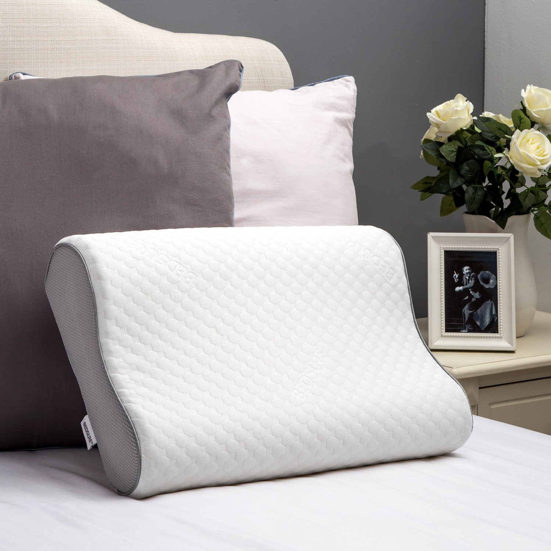 Bedsure Memory Foam Pillow Contour Pillow for side sleepers Neck Support Chiropractor sleeping Bed Pillow