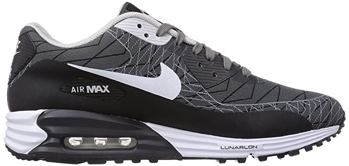 buy online ec55f 0d252 Nike Air Max Lunar90 Jacquard, Mens Trainers, Grey (Light Ash White Black  200), 9 UK  Amazon.co.uk  Shoes   Bags