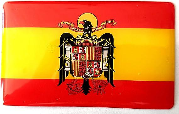 NEW TORO Pegatina de Resina Bandera España Rectangular con Escudo Aguila España Rectangular 70x43mm, 1 Uds: Amazon.es: Hogar