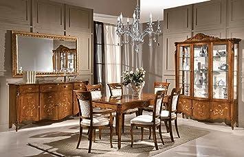 Dafnedesign.com Esszimmer  Und Wohnzimmer Dunkles Holz Bestehend Aus  Rechteckigem Tisch, 4 Stühlen