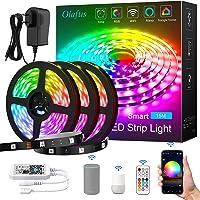 Olafus 15M Tira LED Alexa WiFi, 450 LEDs 5050, Strip Lights RGB Luces Colores LED…