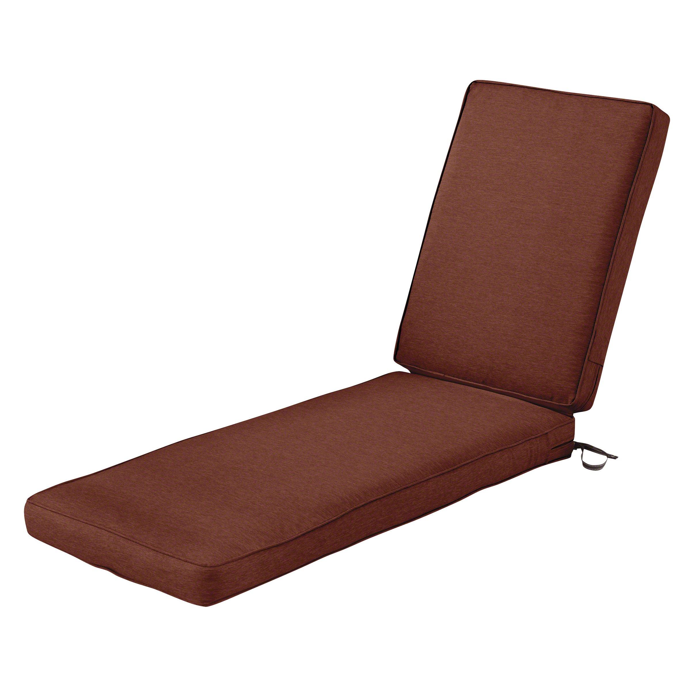 Classic Accessories Montlake Chaise Cushion Foam & Slip Cover, Heather Henna, 72x21x3'' Thick