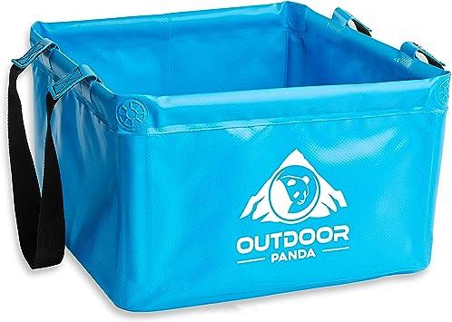 Outdoor Panda Recipiente plegable para exterior, 15 litros, para camping, de lona resistente de alta calidad, ahorra espacio, alternativa ligera al ...