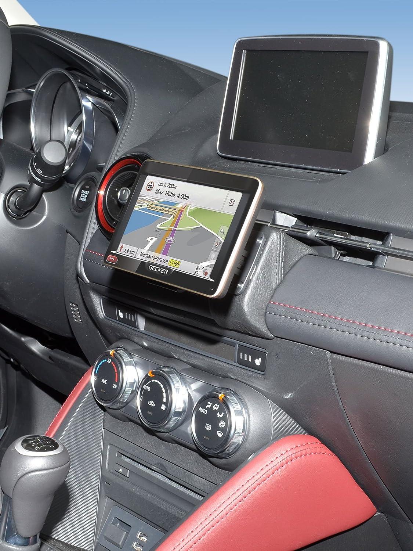 en cuir noir KUDA Console de GPS pour Mazda 2//CX3/