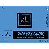 Canson XL Series Watercolor Textured Paper Pad for Paint, Pencil, Ink, Charcoal, Pastel, and Acrylic, Fold Over, 140 Pound, 18 x 24 Inch, 30 Sheets