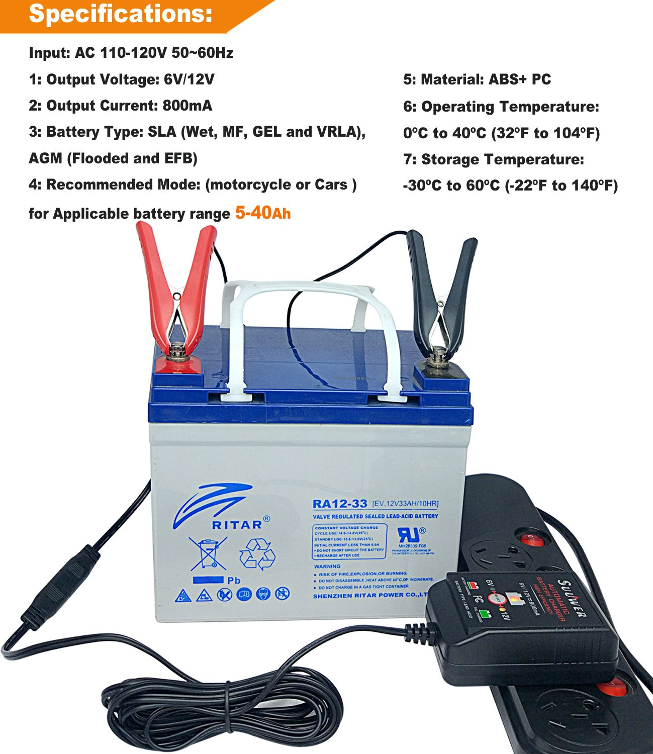 Suuwer 6v 12v 800ma Is A Super Smart Battery Charger Twovoltagerangebatterychargercircuit That Will Constantly Monitor Trickle Charge And Maintain For Car Truck Boat