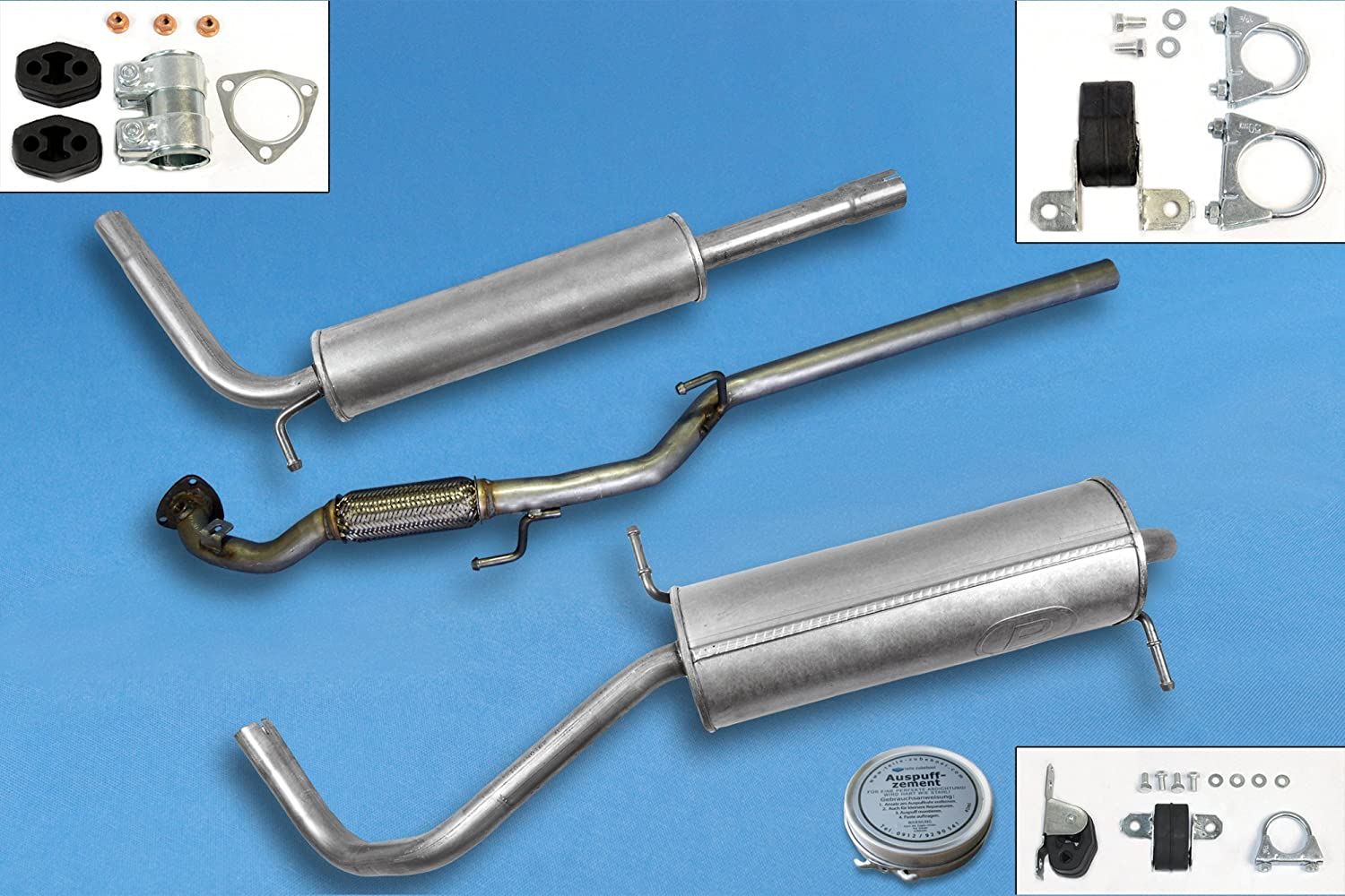 9N 1.2 Hatchback 2001-2005 Full exhaust from CAT