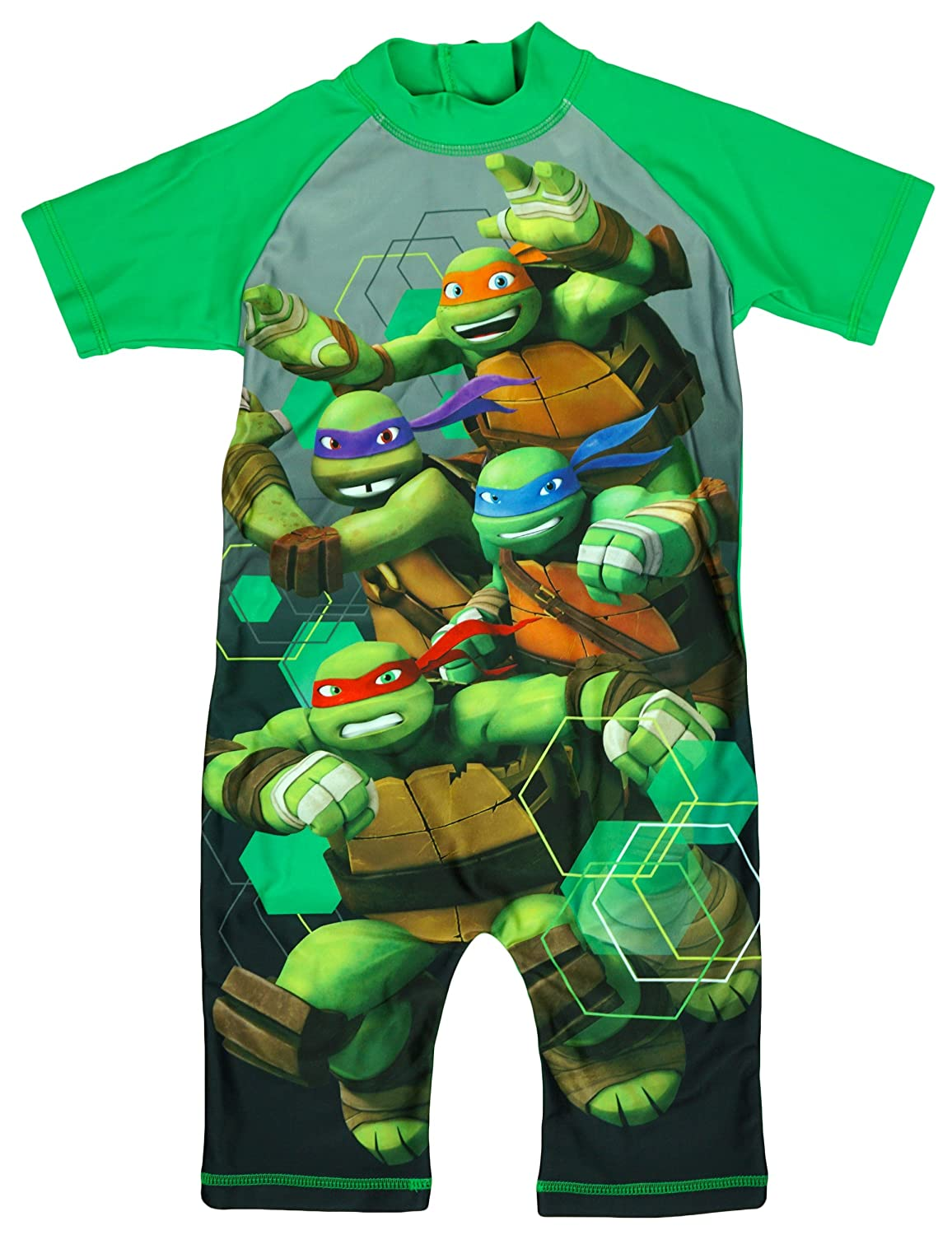 Boys Teenage Mutant Ninja Turtles All in One TMNT Sunsafe Swimsuit sizes from 1.5 to 5 Years