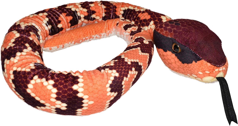 Amazon Com Wild Republic Snake Plush Stuffed Animal Plush Toy Kids Gifts Pet Snake Eastern Cottonmouth 54 Toys Games