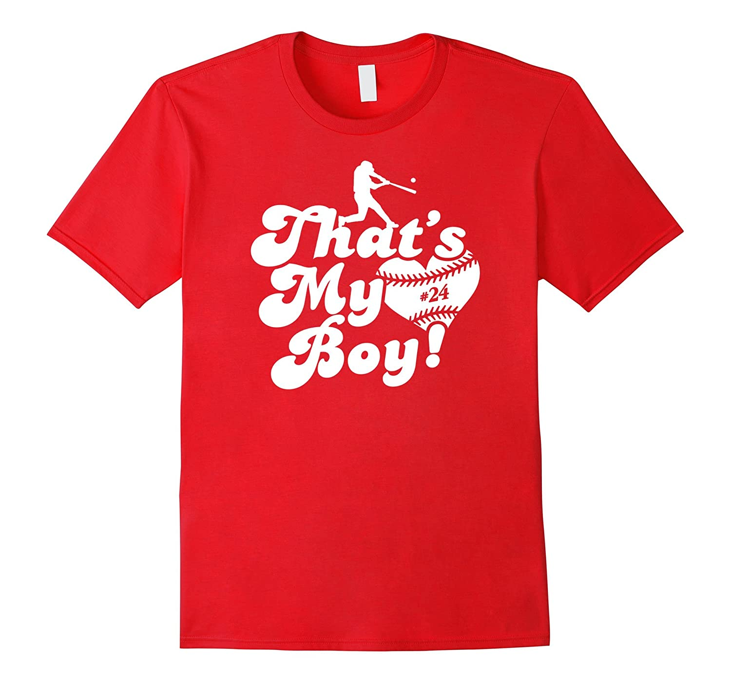 Vintage Thats My Boy 24 Baseball Mom Dad T-shirt-PL