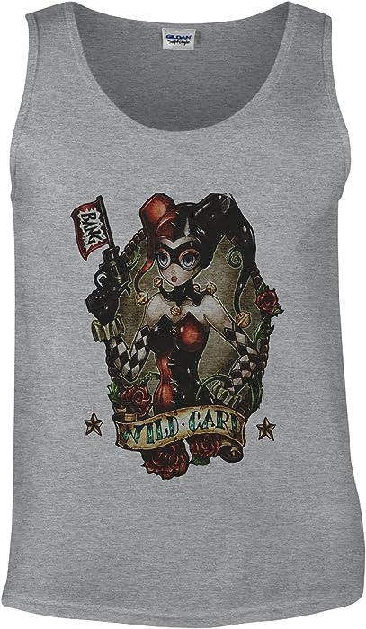 Faith's Shop Harley Quinn Joker Wild Card Joker Sports Grey