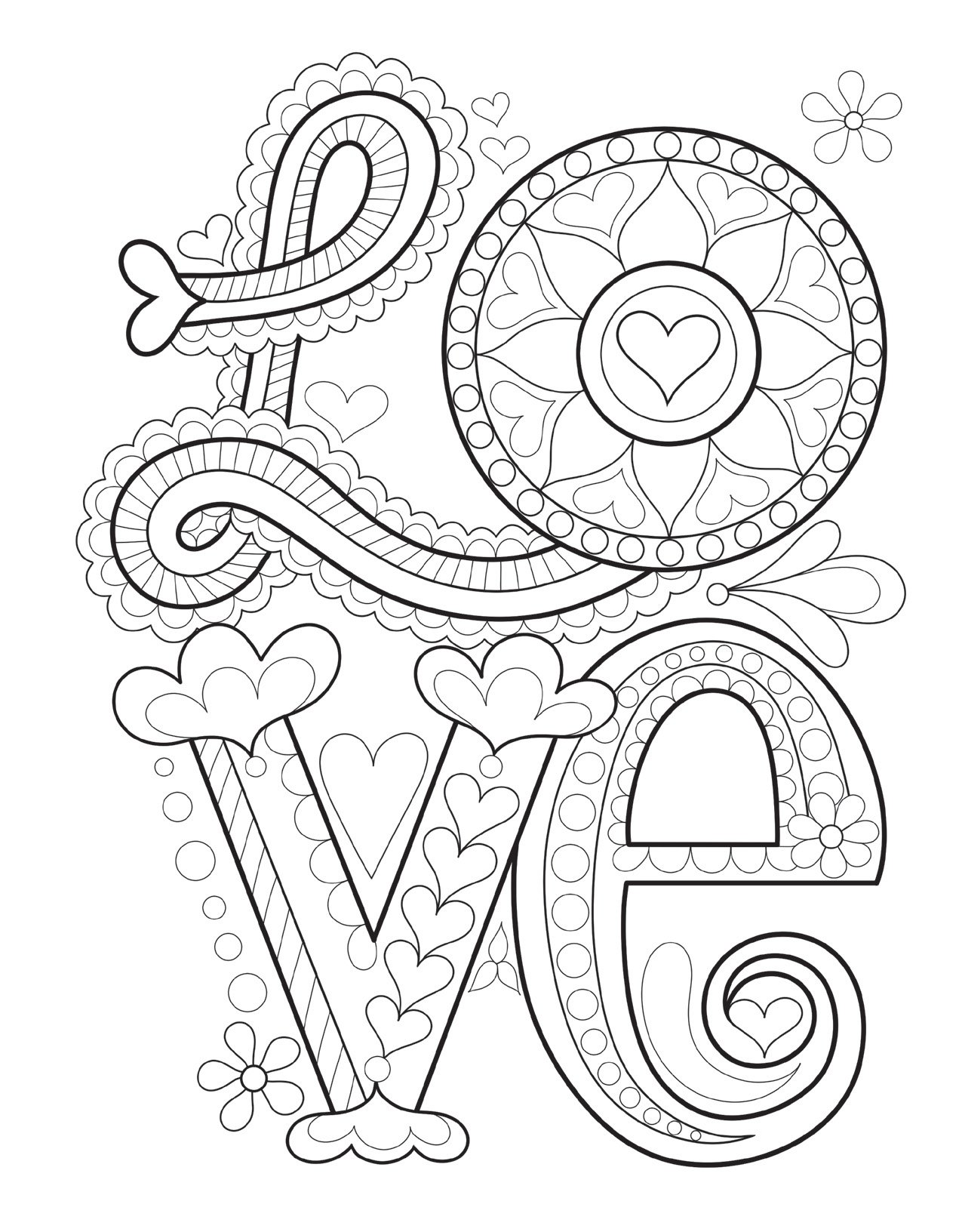 94 Doodle Designs Coloring Book