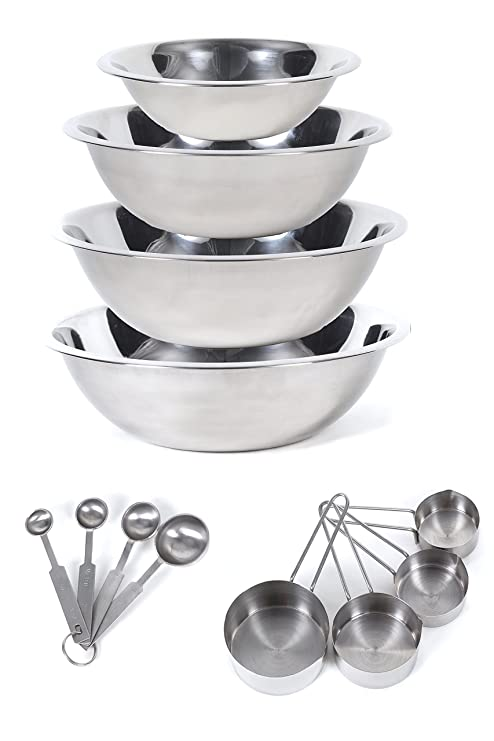 63b24717d85 Image Unavailable. Image not available for. Color  CucinaPrime Stainless  Steel Mixing Set Mixing Bowls ...