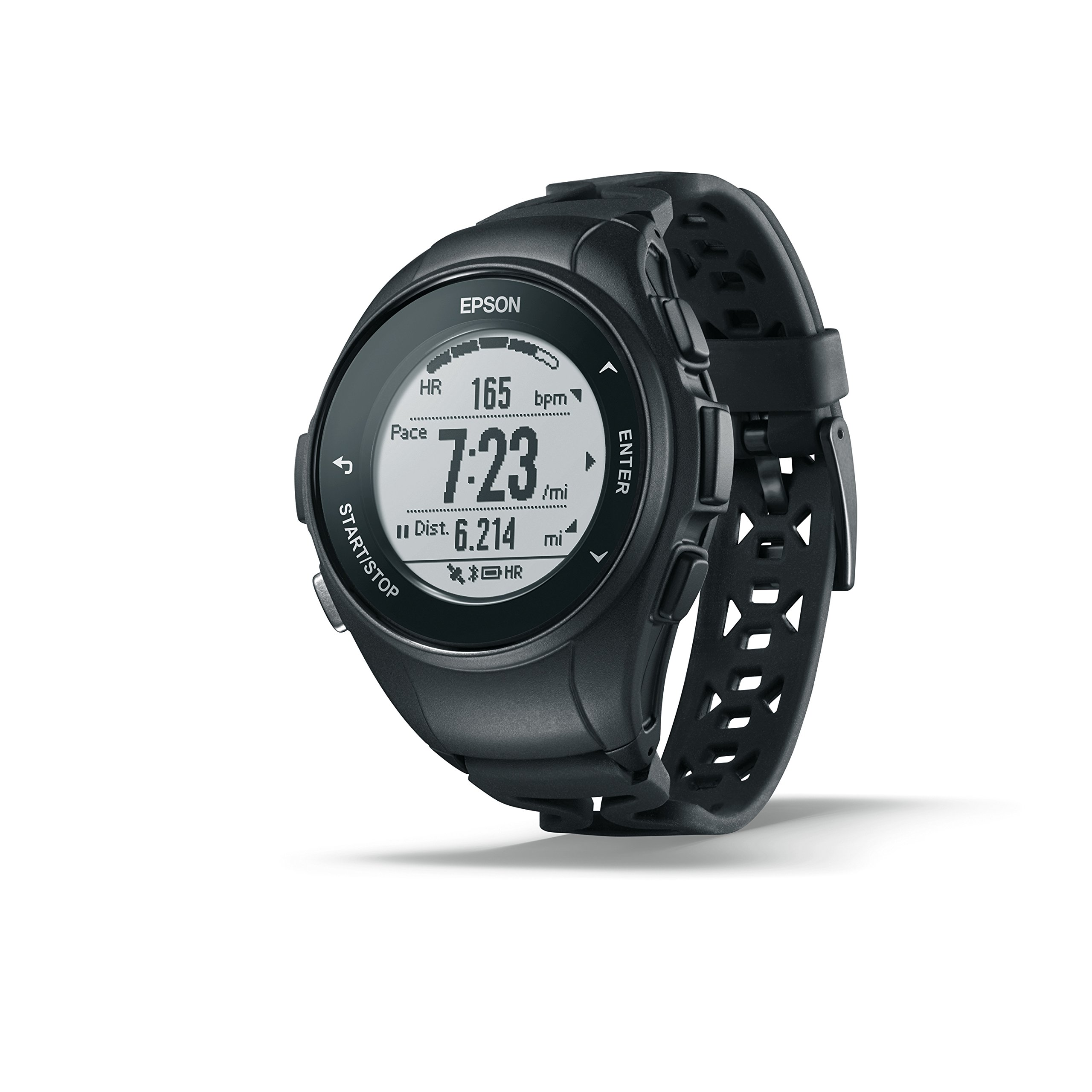 Epson E11E222012 ProSense 57 GPS Running Watch with Heart Rate from the Wrist - Black