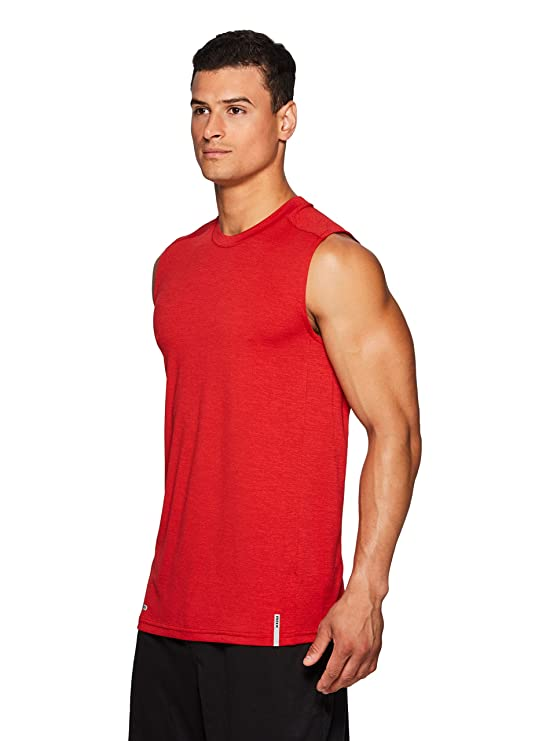 5998ff9bf4804 Amazon.com  RBX Active Men s Lightweight Quick Dry Performance Sleeveless  Muscle Tee  Clothing
