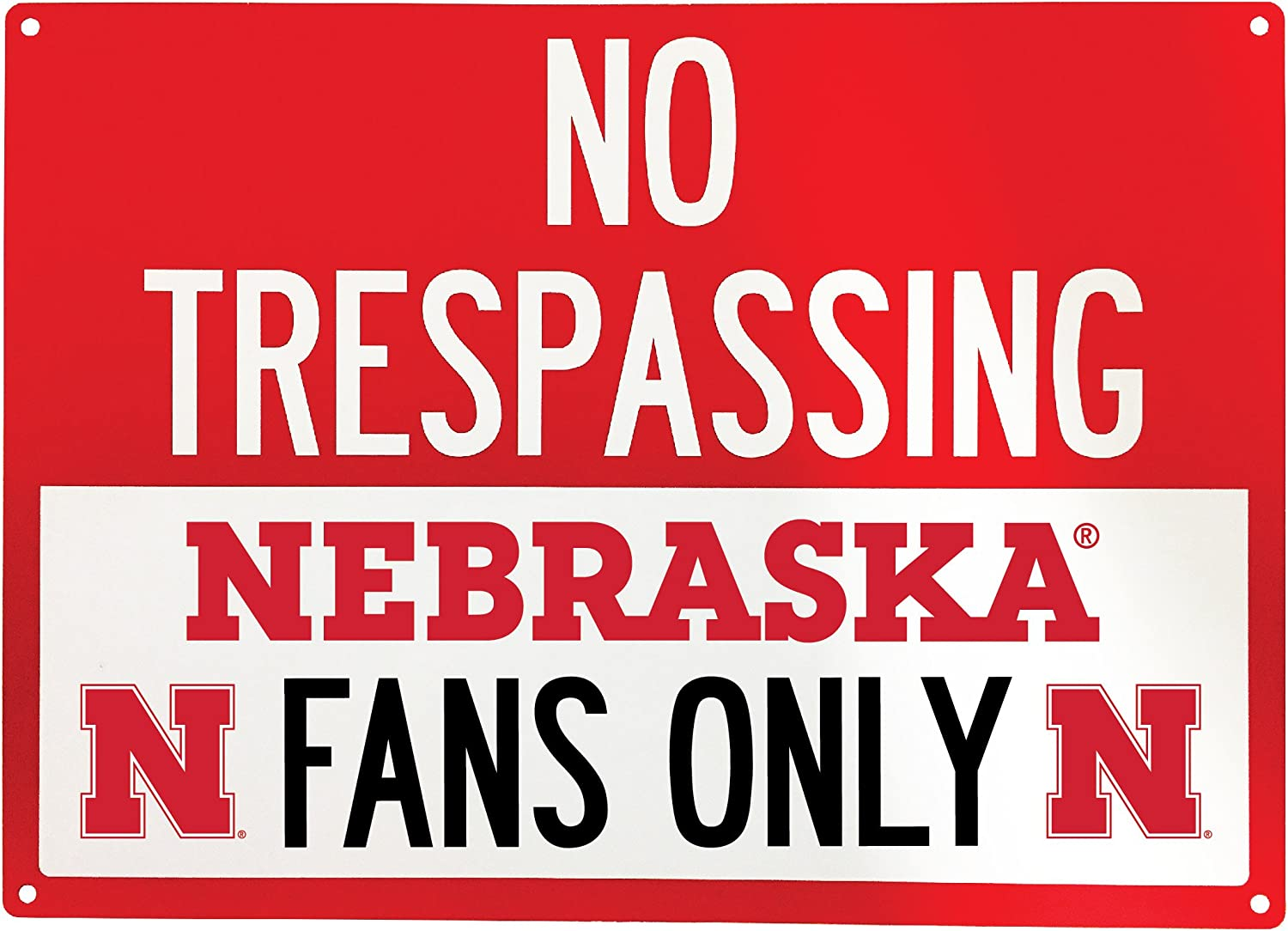 R and R Imports NCAA No Tresspassing-Fans Only Metal Sign-Licenced College Fans Sign
