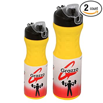 Amazon.com: grazzo Pack de 2 Sipper Botellas para gimnasio ...