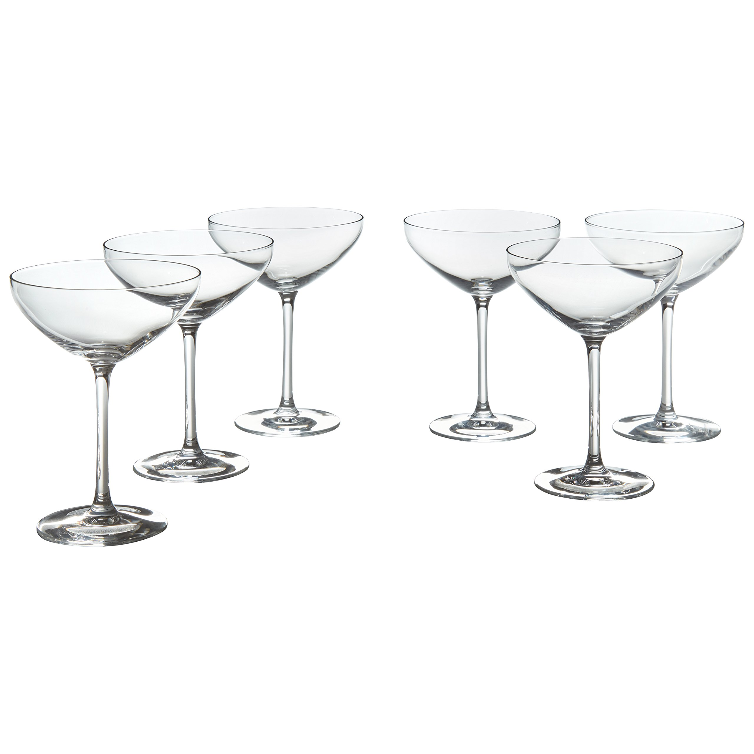 Stone & Beam Traditional Martini Coupe Glass, 8-Ounce, Set of 6 by Stone & Beam