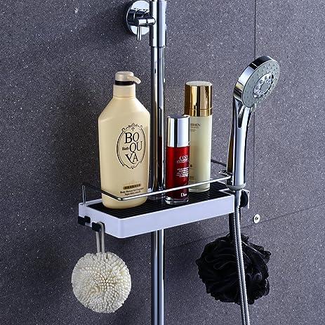 Lyty Adjustable Bathroom Shower Caddy Shelf For Shower Head, Shampoo,  Conditioner, Soap (