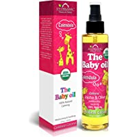 US Organic Baby Oil with Calendula, Smooth Caribbean Coconut,Certified Organic by USDA,Jojoba & Olive Oil with Vitamin E…