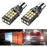 Bogao, coppia di lampadine LED SMD 2838 per luce di retromarcia, bianco xeno, 1100 lumen 921, 912, W16W, Canbus Error Free chipset da 21 estremamente luminose