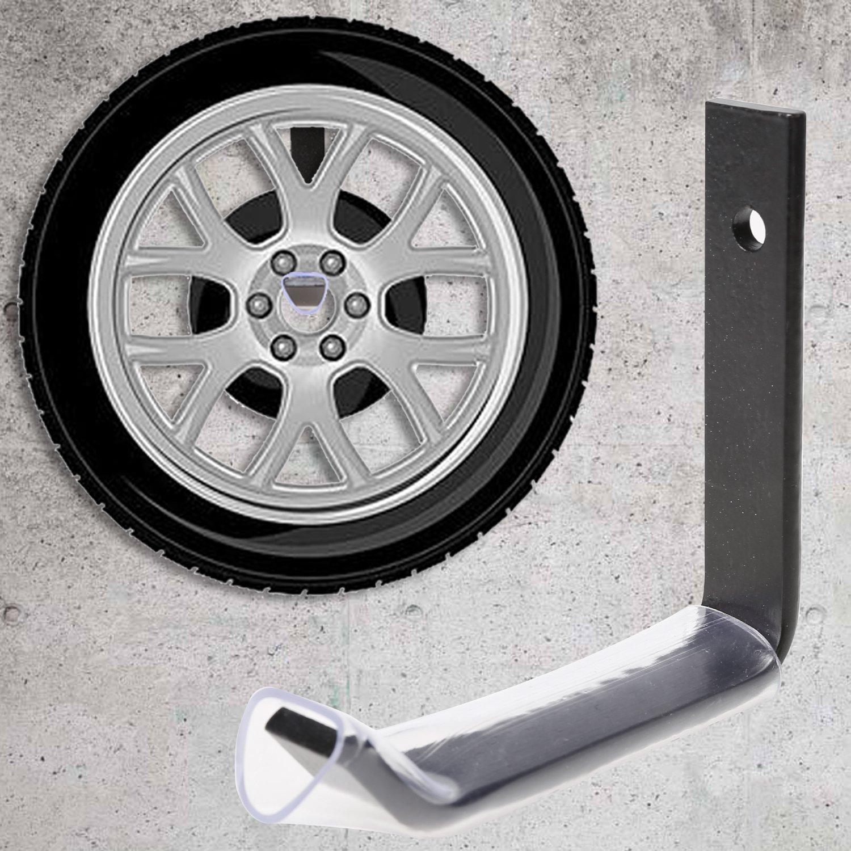 Protezione in Gomma per Cerchio Veloce Montaggio con Accessori Compresi Buyi-World Set Porta Pneumatici da Muro Appendi Gomme a Parete 8 Pezzi Nero