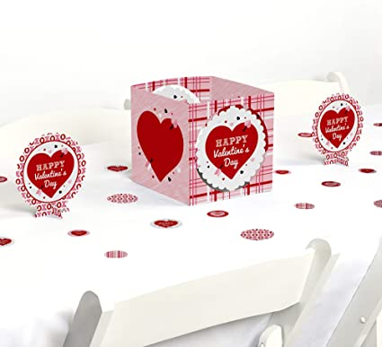 Big Dot of Happiness Conversation Hearts Table Decorations 10 Count Valentine/'s Day Party Fold and Flare Centerpieces