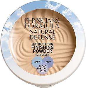Physicians Formula Natural Defense Setting the Tone Finishing Powder SPF 20, Light, 0.35 Ounce, 1711354, 1711354, 1711354, 1711354