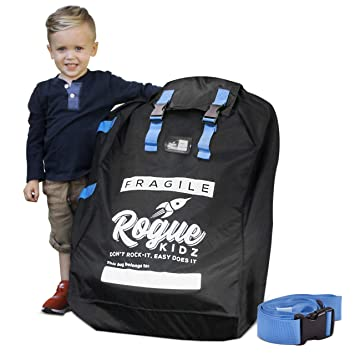 Rogue Kidz Car Seat Travel Bag For Airplane Gate Check Durable Universal Large Cover With Padded