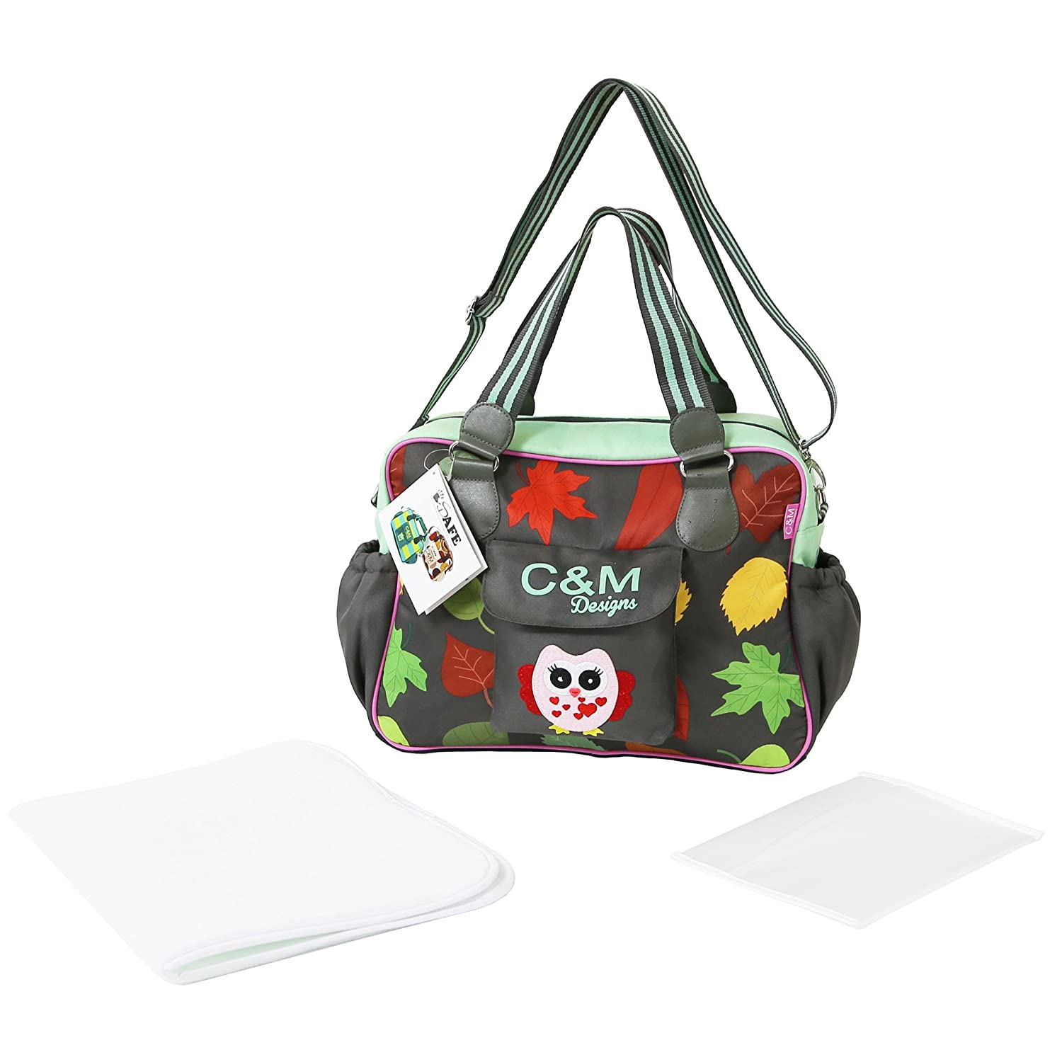 iSafe Changing Bag Luxury Quality (New Design) - Owl & Button iSRed