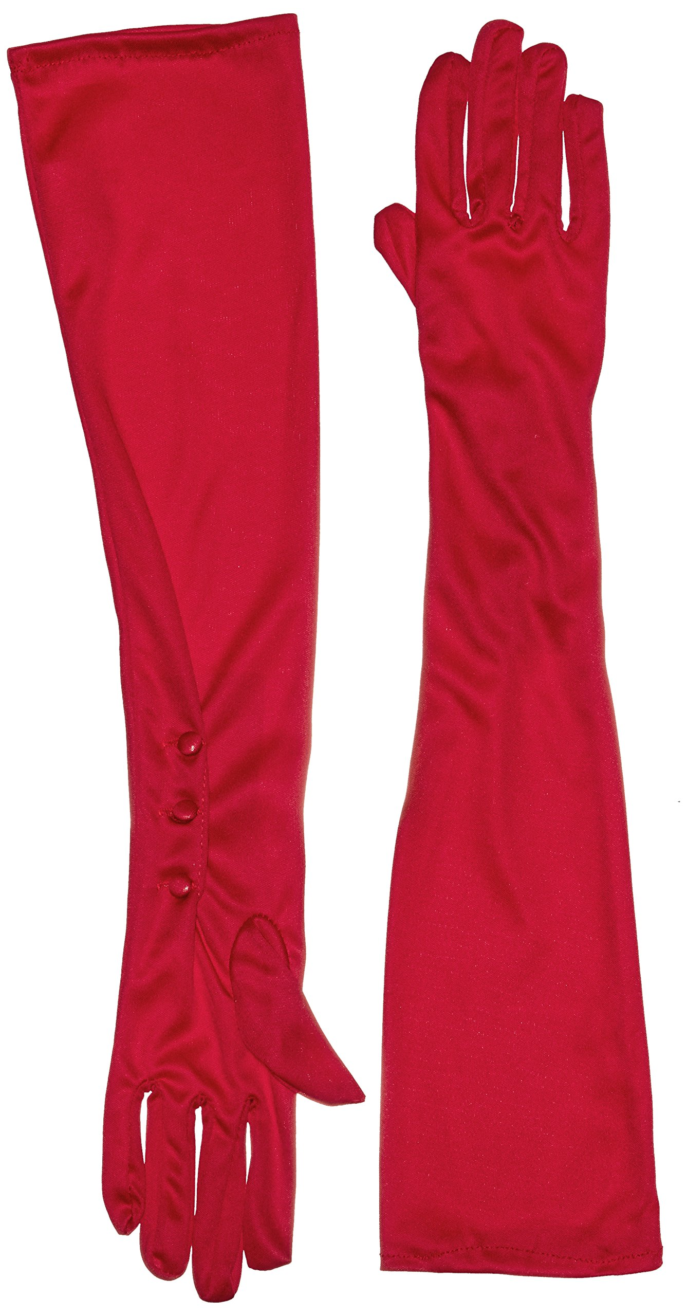 Secret Wishes Long Red Costume Gloves, Red, One Size
