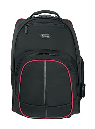 Targus TSB75001AP-70 Compact 16-inch Rolling Backpack (Black/Red) Laptop Backpacks at amazon