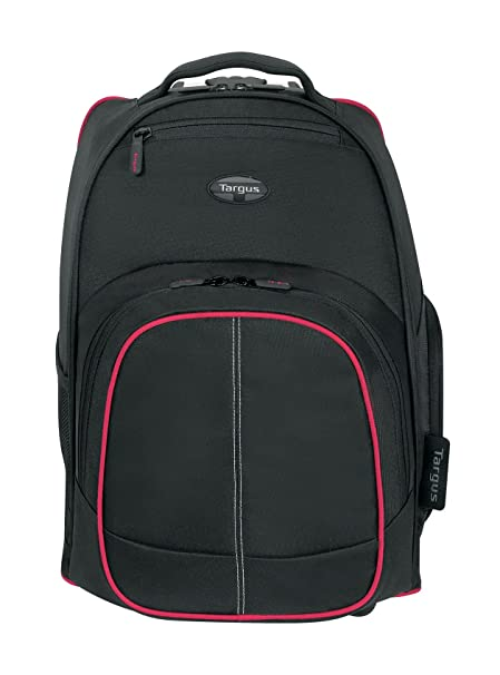 1f63e303eb79 Targus TSB75001AP-70 Compact 16-inch Rolling Backpack (Black/Red)