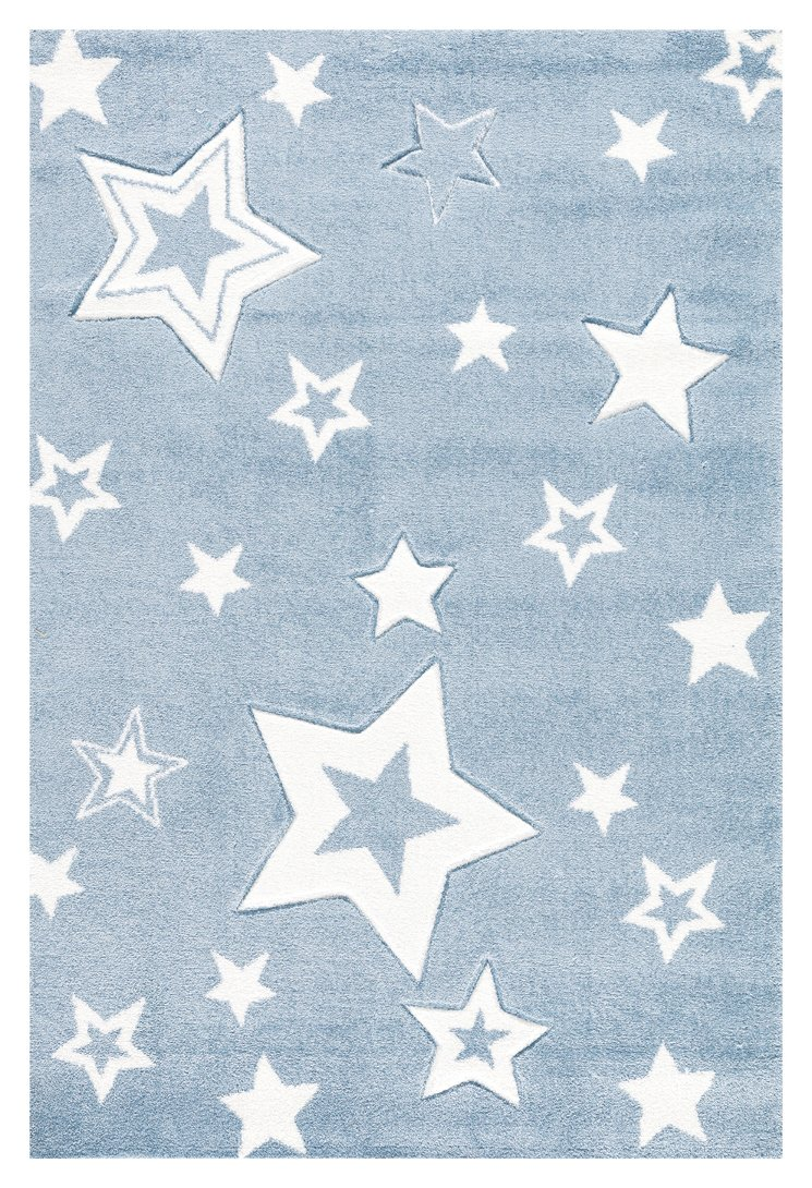 Kinderteppich Love Rugs Starlight blaugrau Weiss 160 160 160 x 230 cm dc1054