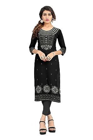 Amazon.com: Indian Túnica parte superior para mujer Kurti ...