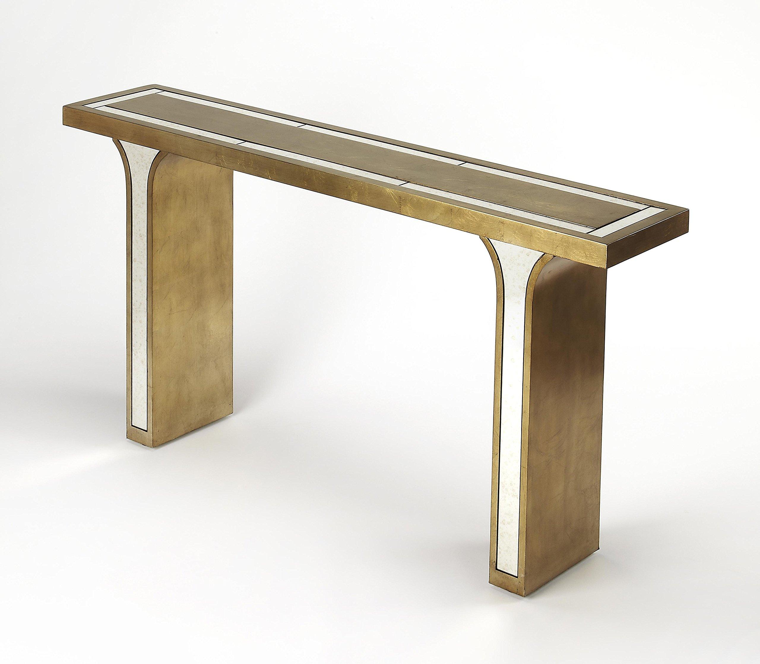 Butler Specialty Company 9201345 Console Table Katya Leaf, Silver