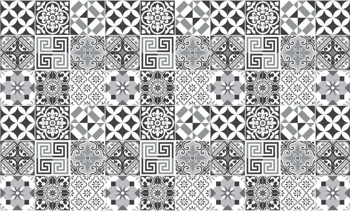 Ambiance-Live 60/Aufkleber Fliesen / /Mosaik Fliesen Wandtattoo Badezimmer und K/üche Fliesen Kleber/ /10/x 10/cm/ /Nuance-elegantem Grau/ Sticker Selbstklebend Fliesen/