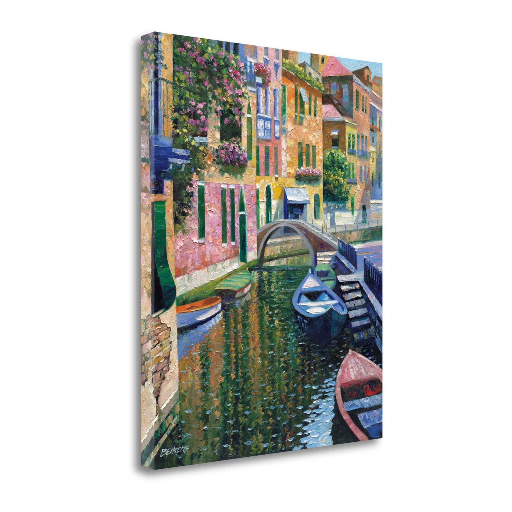 ''Romantic Canal'' By Howard Behrens, Fine Art Giclee Print on Gallery Wrap Canvas, Ready to Hang