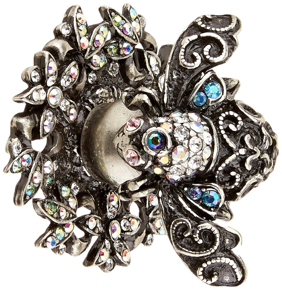 Carpe Diem Hardware 27502751-9-81 In the Garden Bee Knob with Swarovski Crystals, Chalice