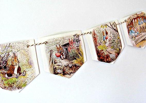 Beatrix Potter Benjamin Bunny paper garland.