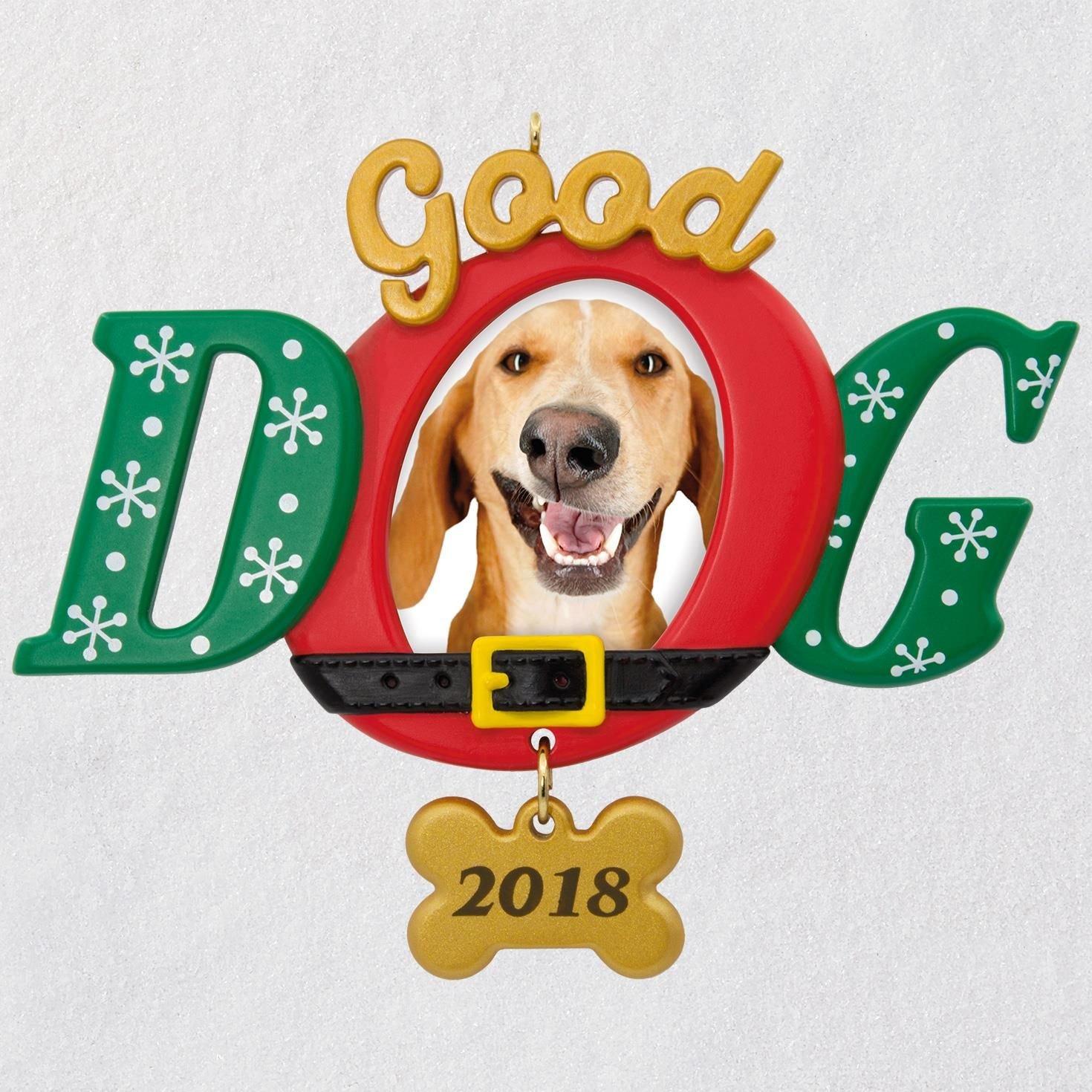 Hallmark Good Dog 2018 Photo Ornament keepsake-ornaments Pets