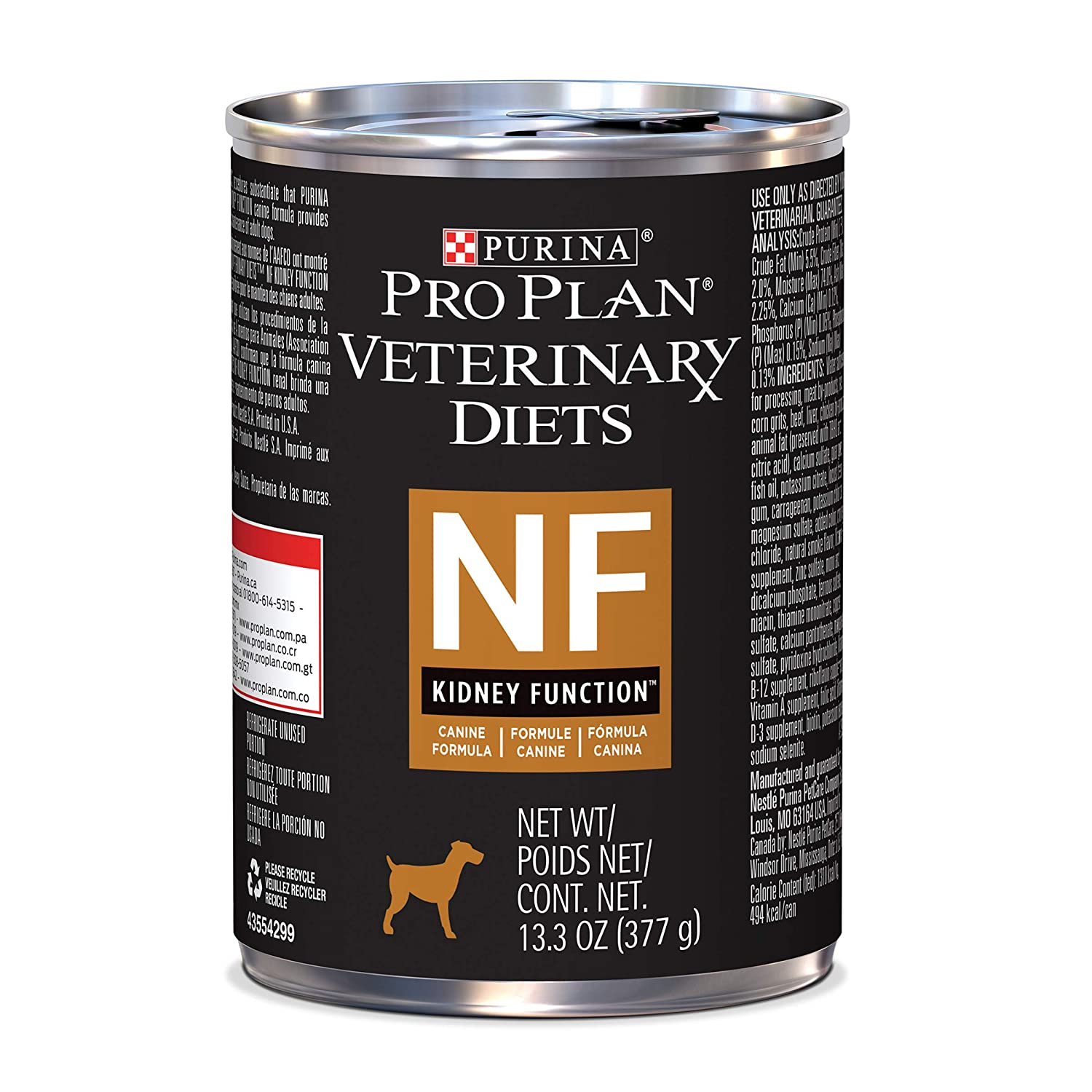 1. Purina Pro Plan Veterinary Diets NF Kidney Function Formula Canned Dog Food