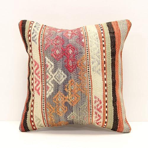 ottoman pillow  rustic kilim pillow  tribal kilim pillow  home decor pillow  boho pillow  organic pillow  12x20 pillow cover code 3659