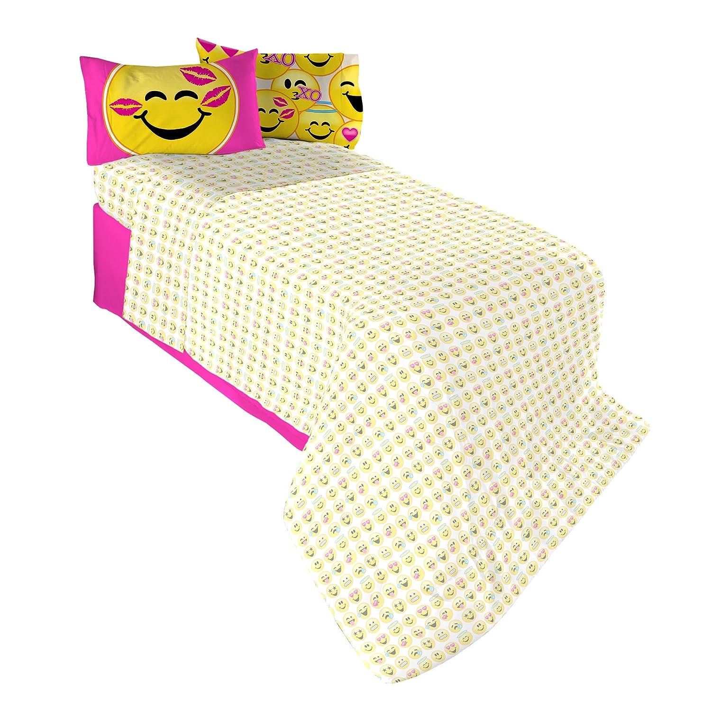 Emojination MA6438 Happy Sheet Set, Twin Franco Manufacturing