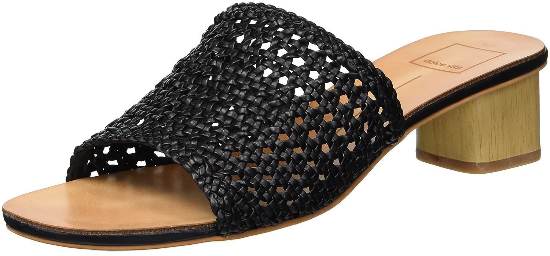 Dolce Vita Women's King Slide Sandal B079JBD8WT 6.5 B(M) US|Black Woven