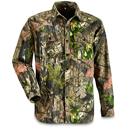 98aa4c64ed44c Guide Gear Men's Button Front Hunting Shirt, Mossy Oak Country Camo, 2XL  Tall